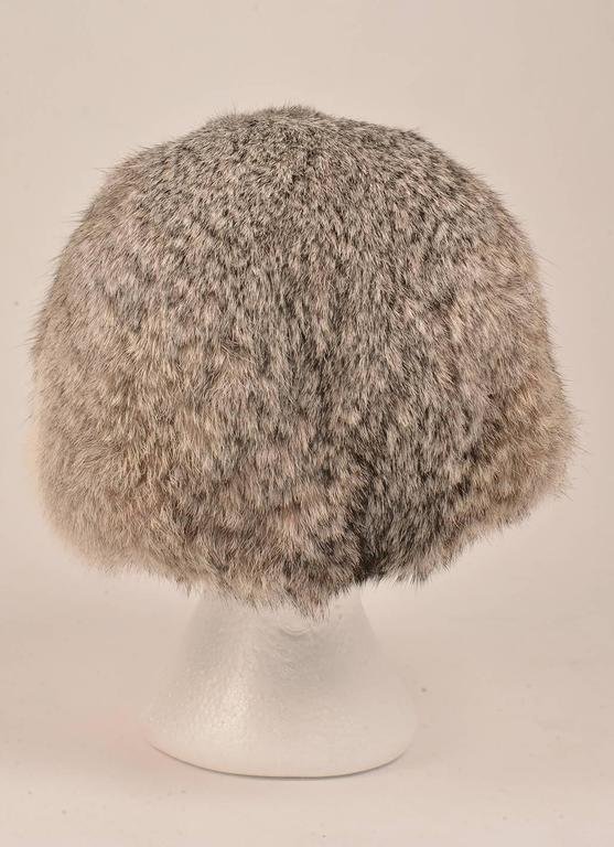 Women's 1960s Adolfo II Fur Hat with Hip Fur Bill  For Sale