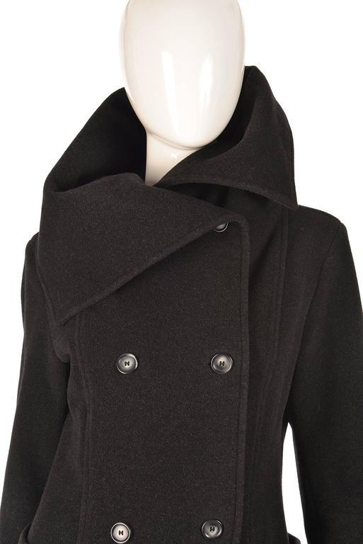 Ivan Grundahal Black Wool Large Collar Coat For Sale 1