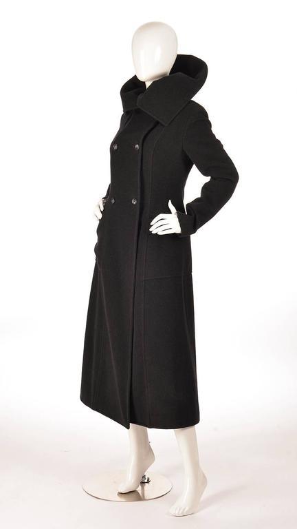 Ivan Grundahal Black Wool Large Collar Coat For Sale 2