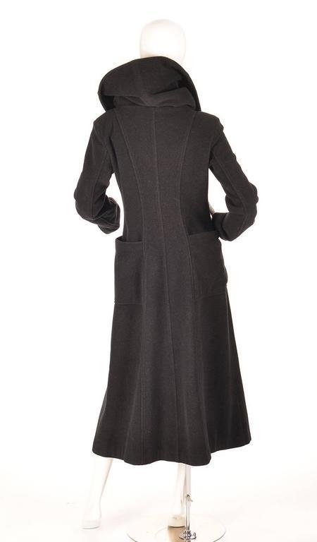 Ivan Grundahal Black Wool Large Collar Coat For Sale 3
