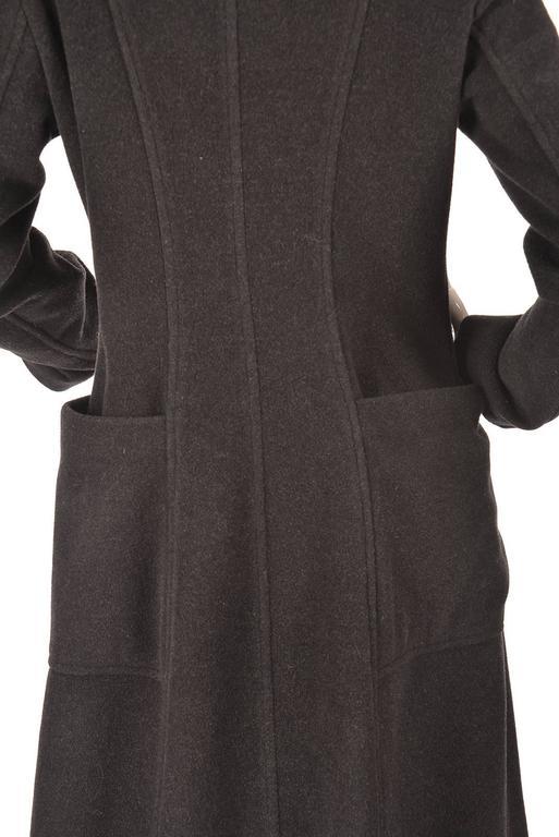 Ivan Grundahal Black Wool Large Collar Coat For Sale 4