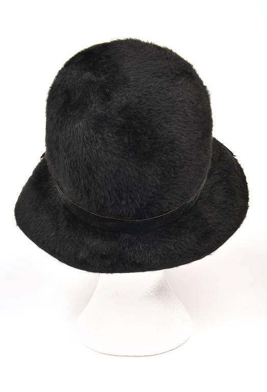 1970s Mr. John Classic Black Faux Fur Hat 4