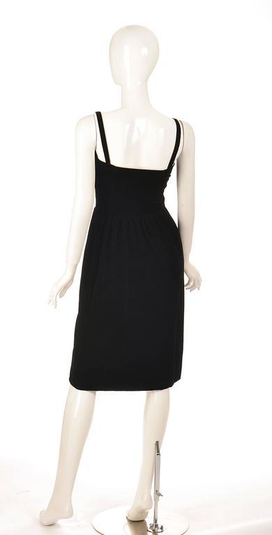 Givenchy Nouvelle Boutique Black Velvet Dress, 1970s  For Sale 1