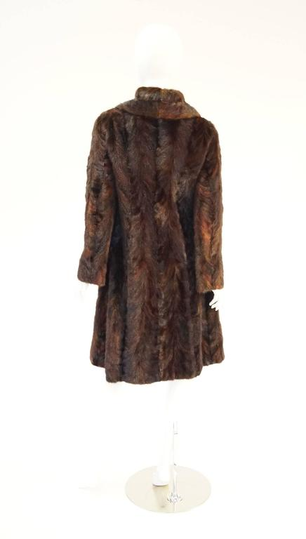 1980's Oscar de la Renta Multi Hued Brown Sable Fur Coat 2