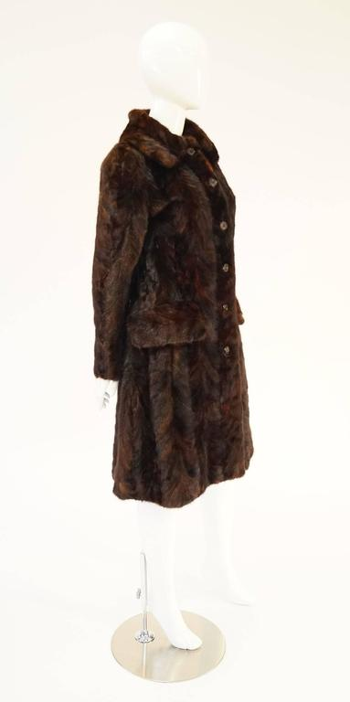 1980's Oscar de la Renta Multi Hued Brown Sable Fur Coat 3