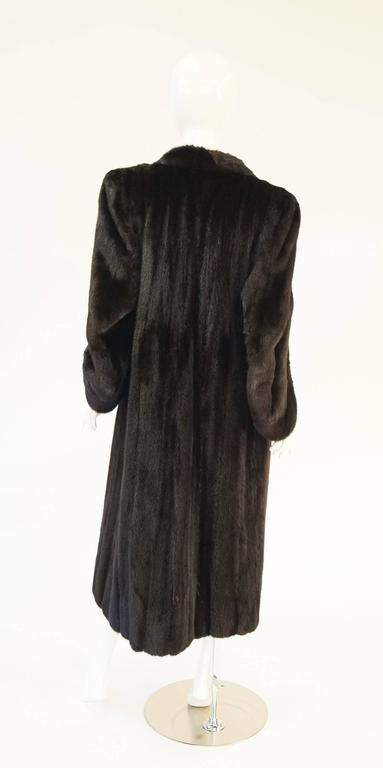 1980s Sultry And Soft Italian Brown Mink Coat For Esther