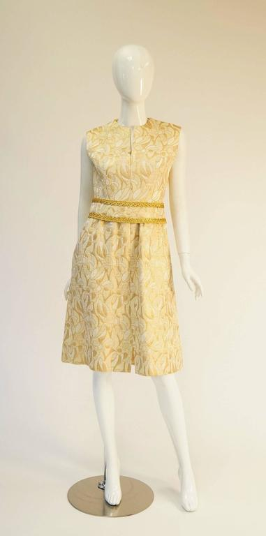 1960 S Mollie Parnis Gold And Cream Dress Suit At 1stdibs