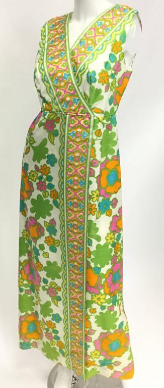 1960s Fantastic Mod Floral Panel Dress  2