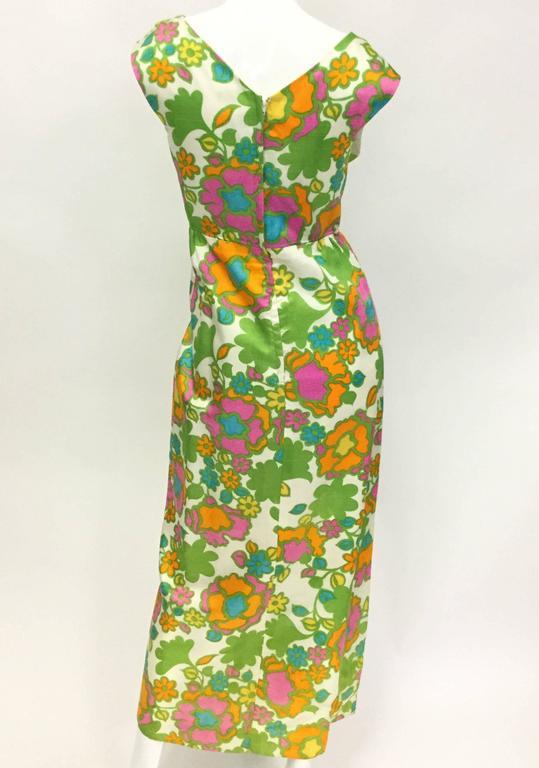 1960s Fantastic Mod Floral Panel Dress  3