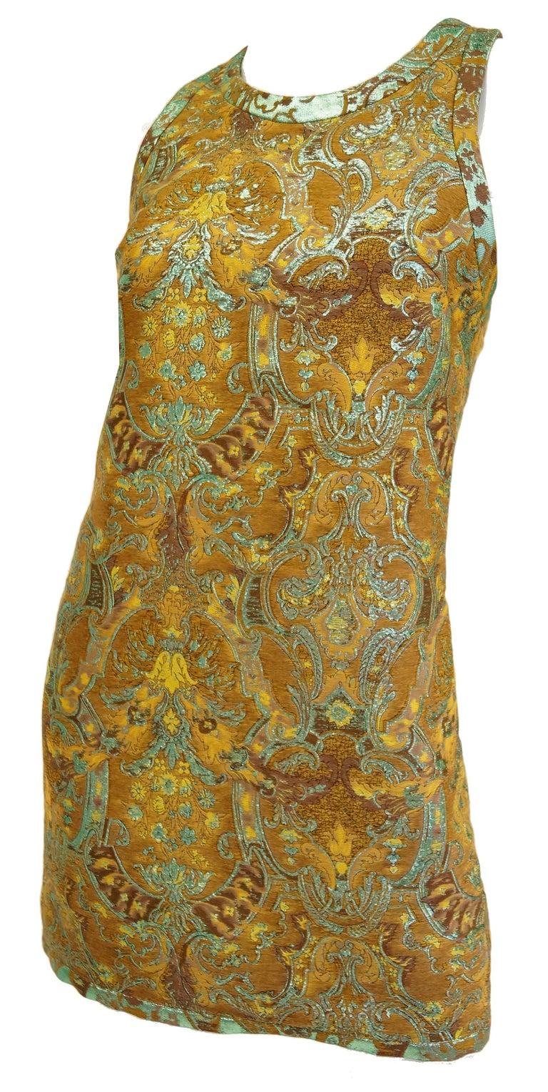 21st century barbara bui mint and gold jaquard dress at for Century 21 dress shirts