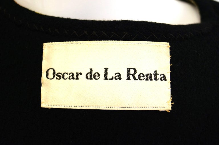 1960s Oscar de La Renta Bohemian Trim Wool Cloak  For Sale 2