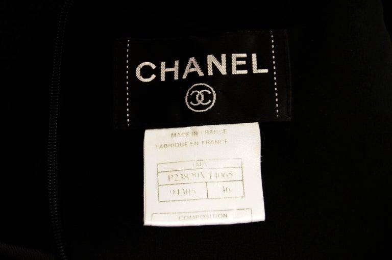 Women's 21st Century Chanel Black Bouclé and Lambskin Dress For Sale