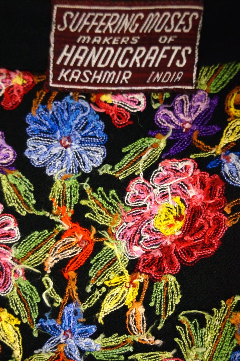 Vintage Suffering Moses Wool Kashmiri Embroidered One