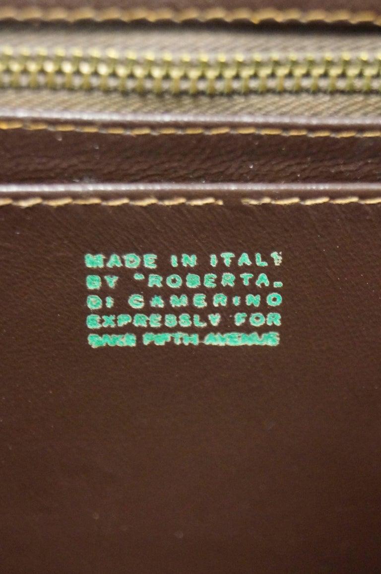 1960s Roberta di Camerino Amber Reptile Cut Velvet Handbag For Sale 2