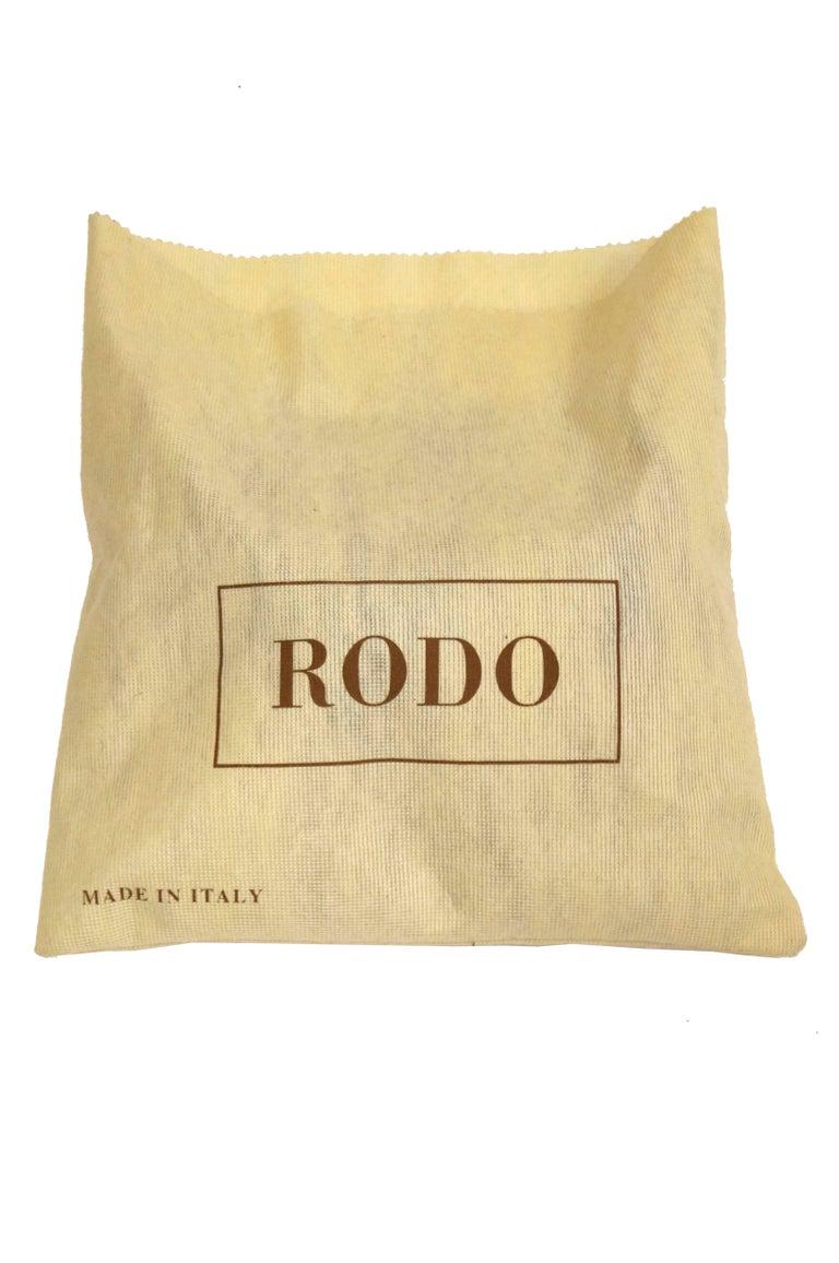 1980s Rodo Black Silk and Rhinestone Bow Clutch For Sale 4