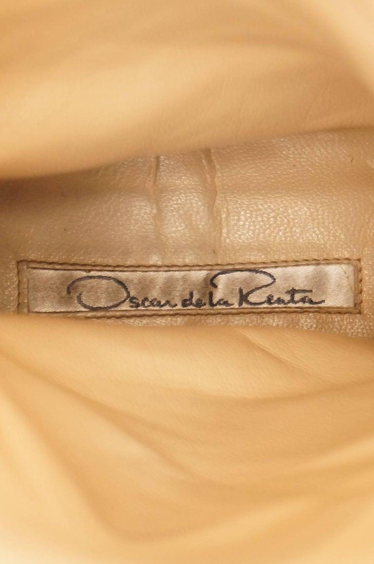 Oscar de la Renta Blonde Fox Fur and Brown Suede Boots For Sale 1