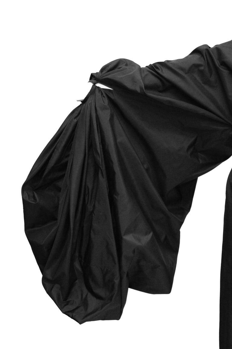 Madame Grès Black Haute Couture Silk
