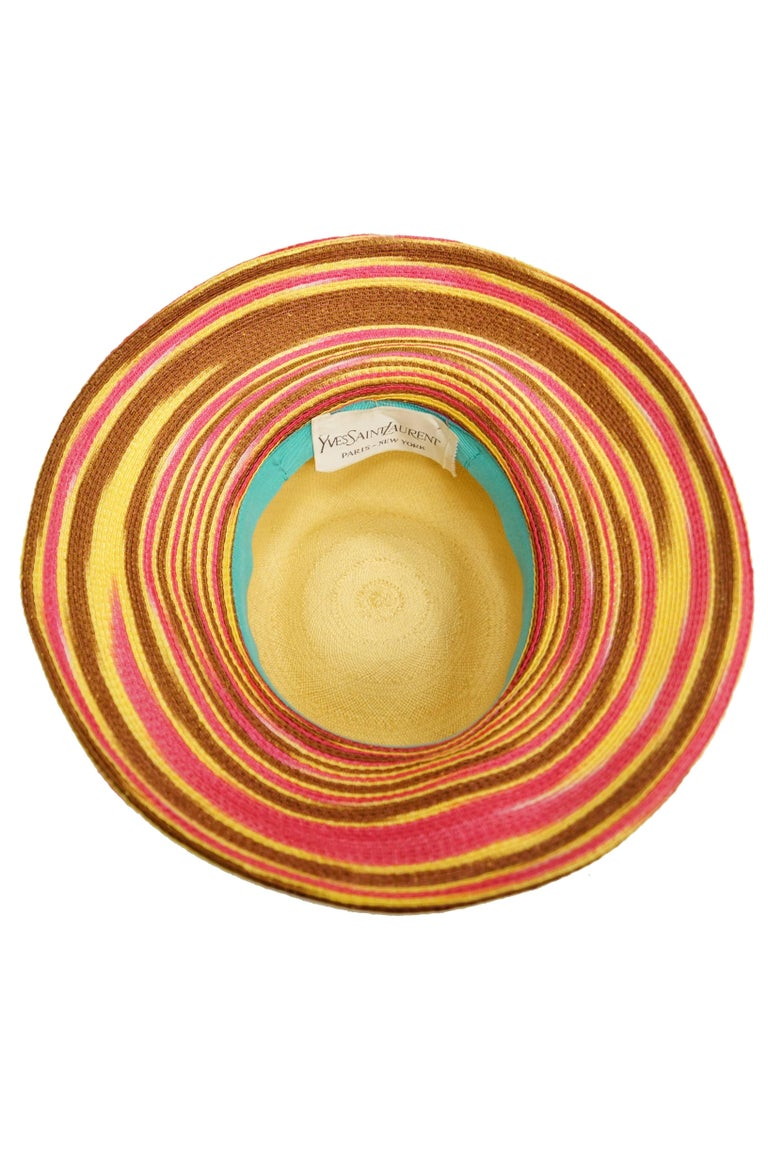Yves Saint Laurent Colorful Tassel Sun Hat, S 1970s  For Sale 3