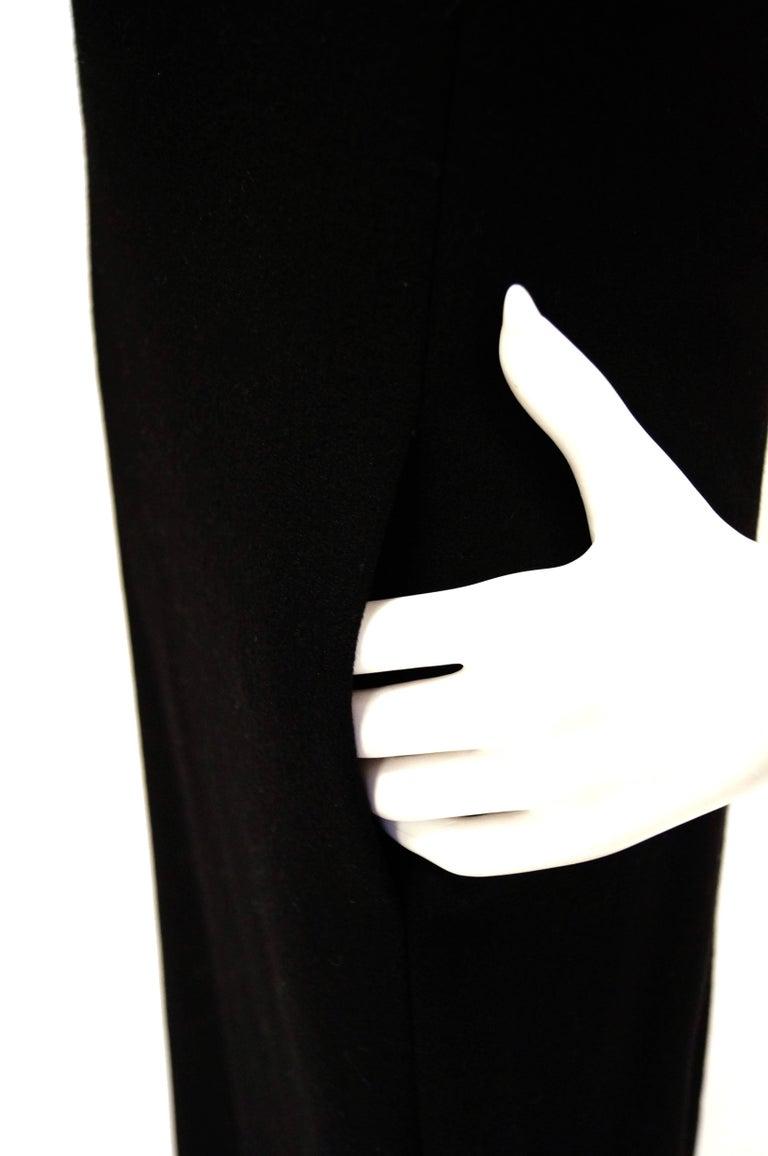 Women's 1960s Donald Brooks Black Wool Evening Dress For Sale