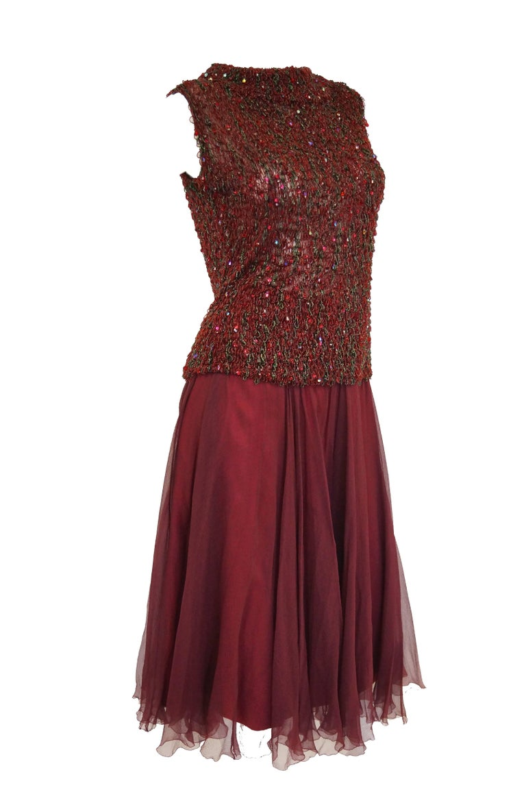 Yves Saint Laurent Couture Evening Dress Owned by Claudette Colbert, 1963  For Sale 6