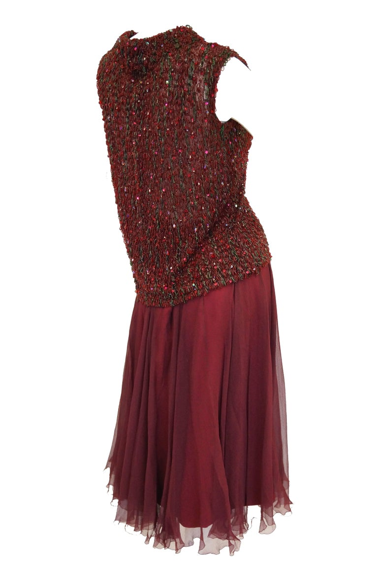 Yves Saint Laurent Couture Evening Dress Owned by Claudette Colbert, 1963  For Sale 4