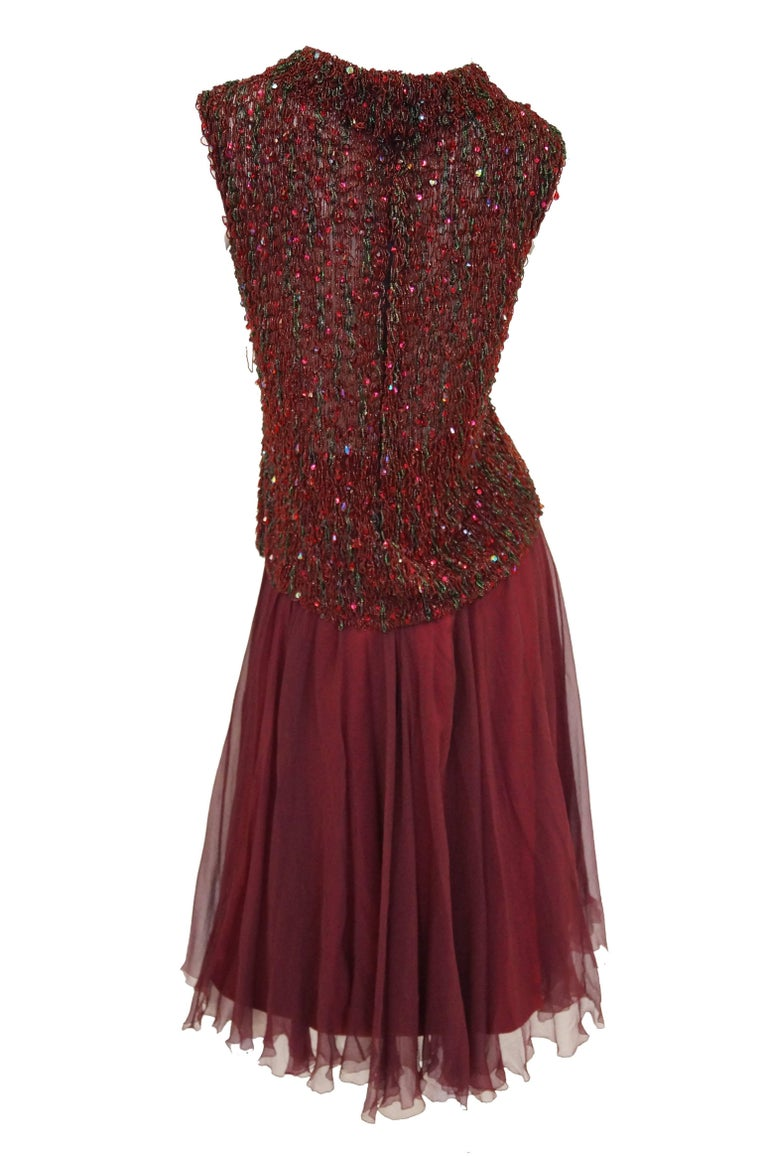 Yves Saint Laurent Couture Evening Dress Owned by Claudette Colbert, 1963  For Sale 3