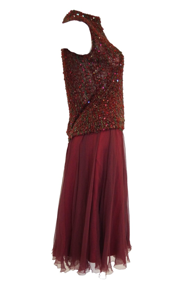 Yves Saint Laurent Couture Evening Dress Owned by Claudette Colbert, 1963  For Sale 5