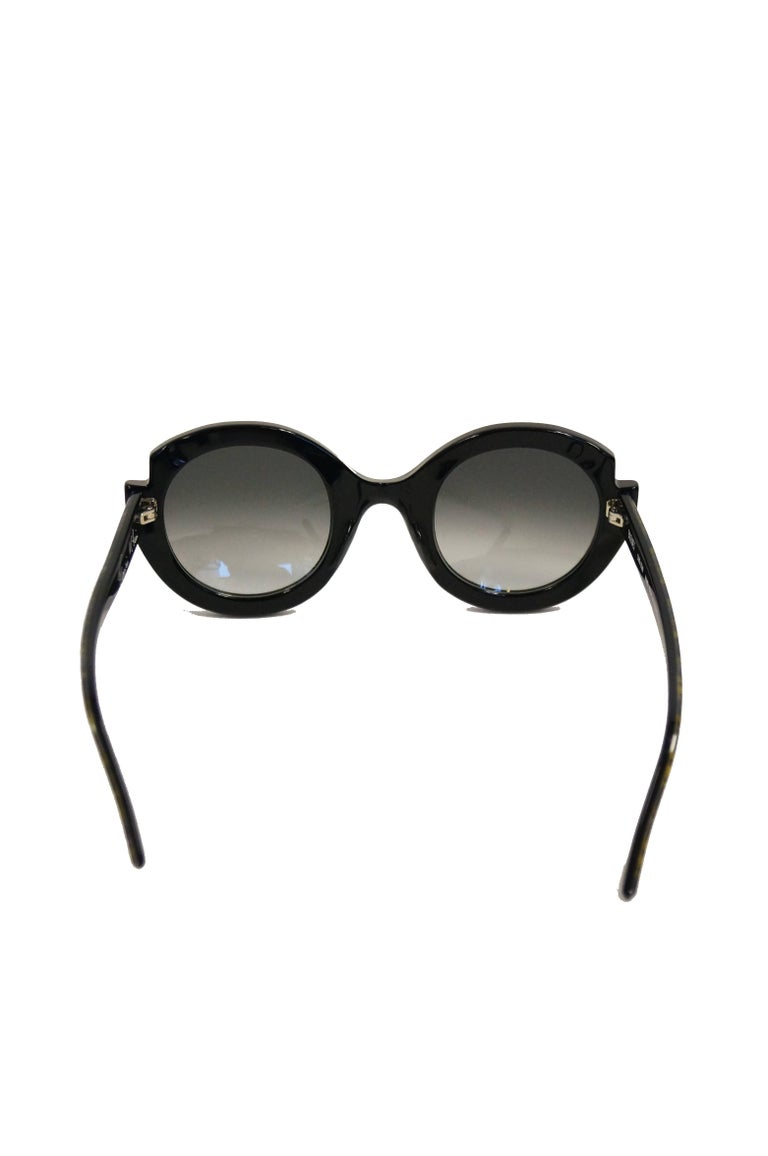 """Francis Klein """"Bleuet"""" Handmade and Handpainted Sunglasses Made In France For Sale 1"""