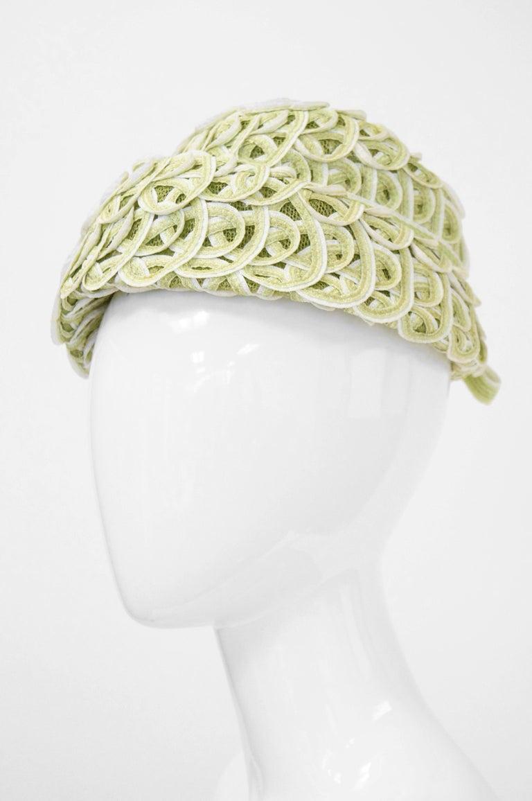 Balenciaga Reproduction Peach Basket Hat In A Subtle Green