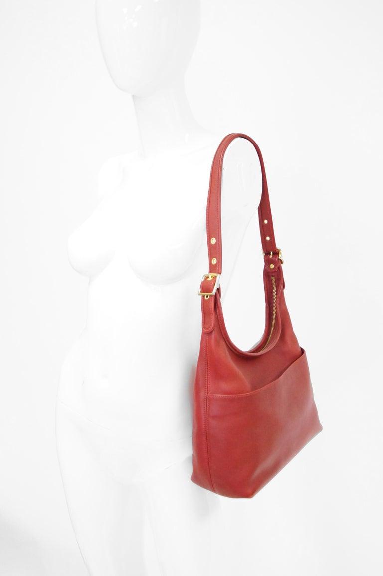 Bonnie Cashin Coach Tomato Red Shoulder Bag, 1970s  For Sale 6