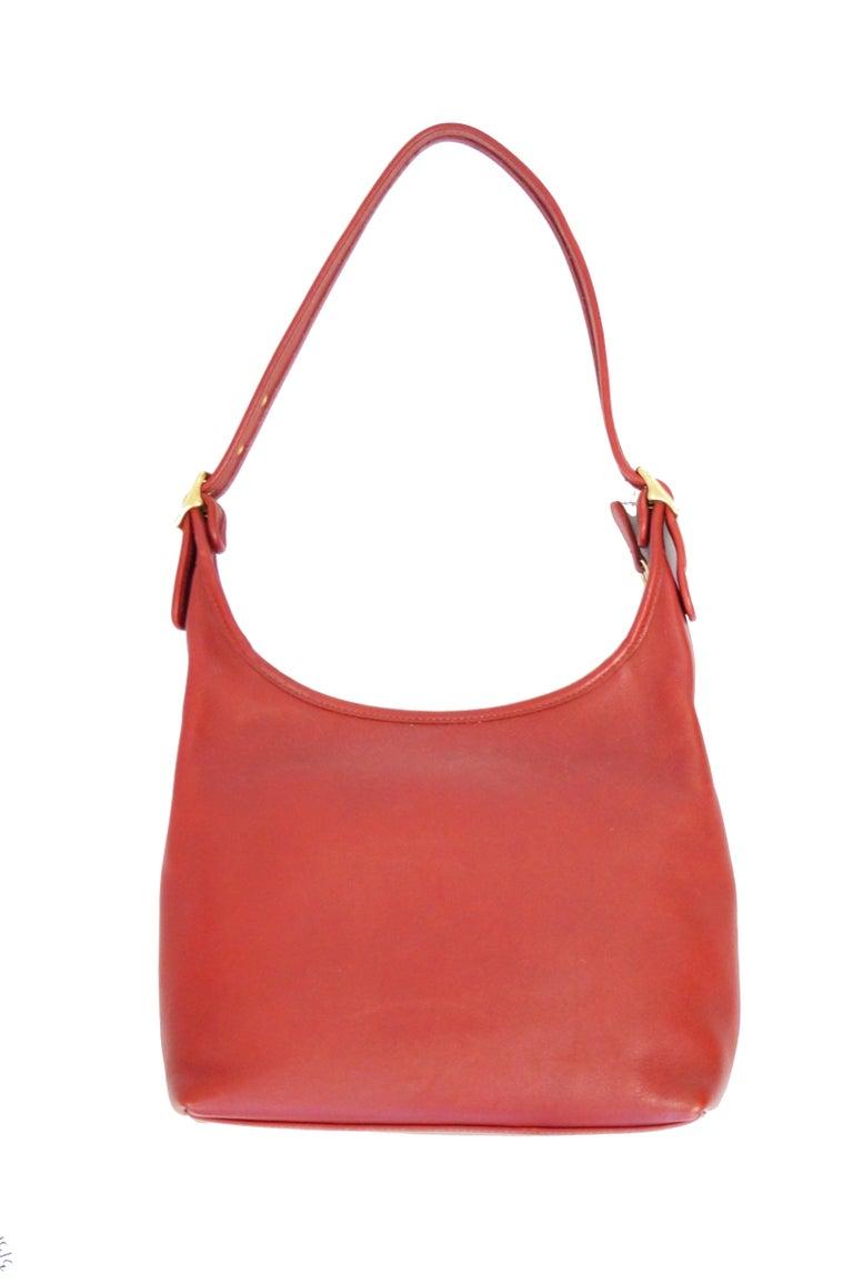 Women's or Men's Bonnie Cashin Coach Tomato Red Shoulder Bag, 1970s  For Sale