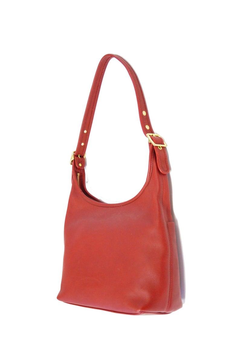 Bonnie Cashin Coach Tomato Red Shoulder Bag, 1970s  For Sale 1