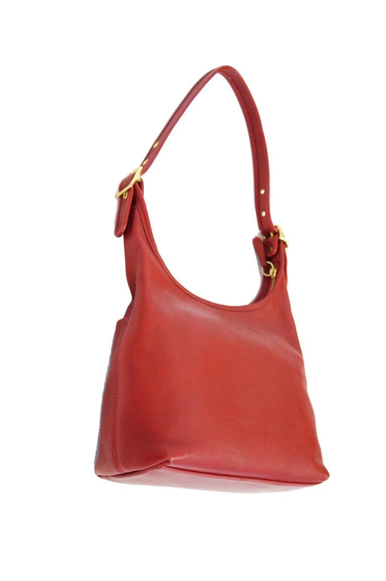Bonnie Cashin Coach Tomato Red Shoulder Bag, 1970s  For Sale 2