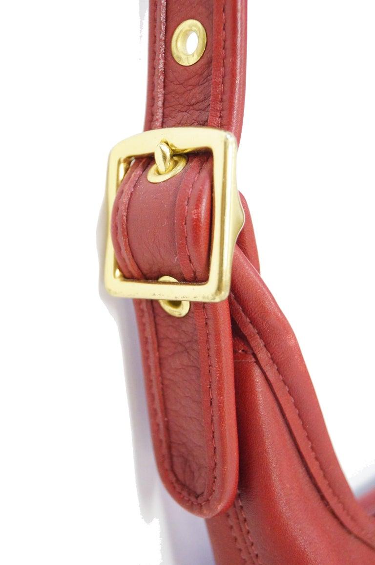 Bonnie Cashin Coach Tomato Red Shoulder Bag, 1970s  For Sale 3