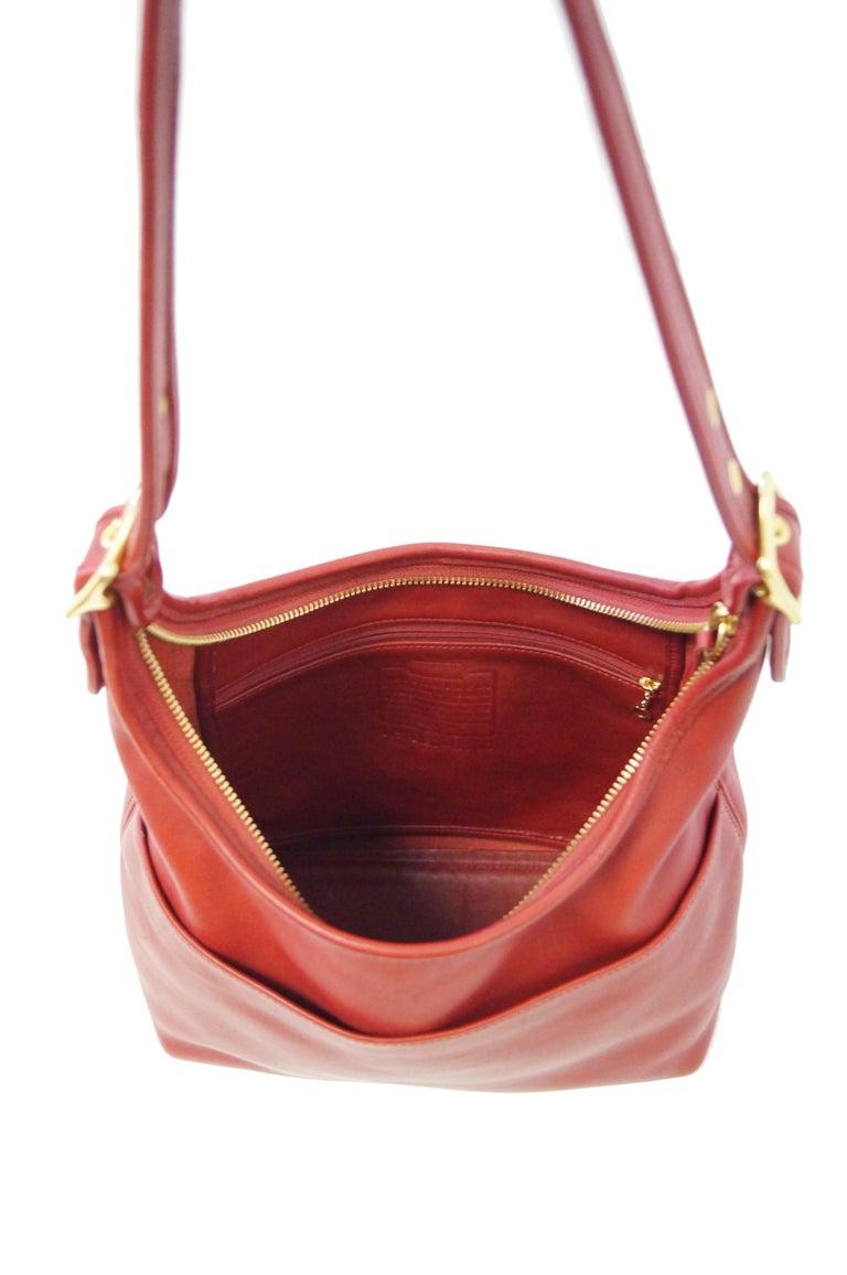 Bonnie Cashin Coach Tomato Red Shoulder Bag, 1970s  For Sale 4