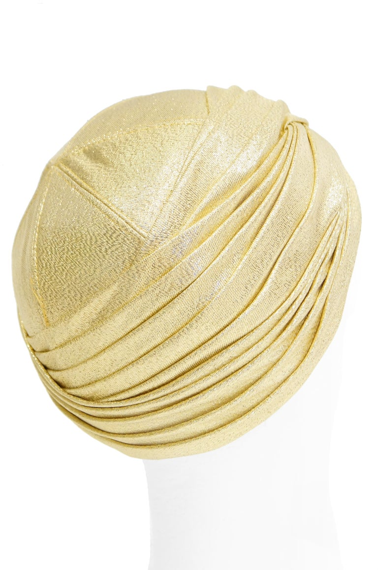 Pierre Cardin Gold Metallic Turban, 1950s  For Sale 1