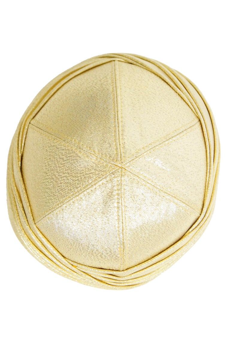 Pierre Cardin Gold Metallic Turban, 1950s  For Sale 2