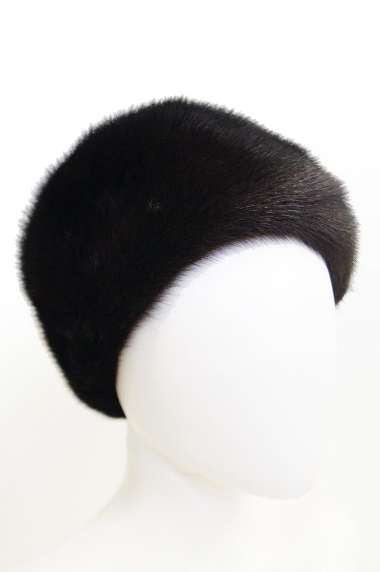 Women's Dior Mink Chapeau Fur Hat, 1950s  For Sale