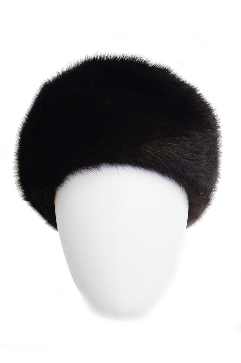 Dior Mink Chapeau Fur Hat, 1950s  For Sale 1