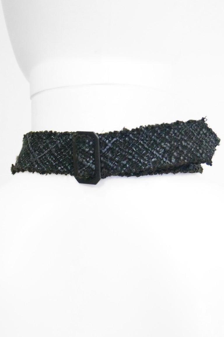 Women's Chanel Black Tweed Bow Tie For Sale