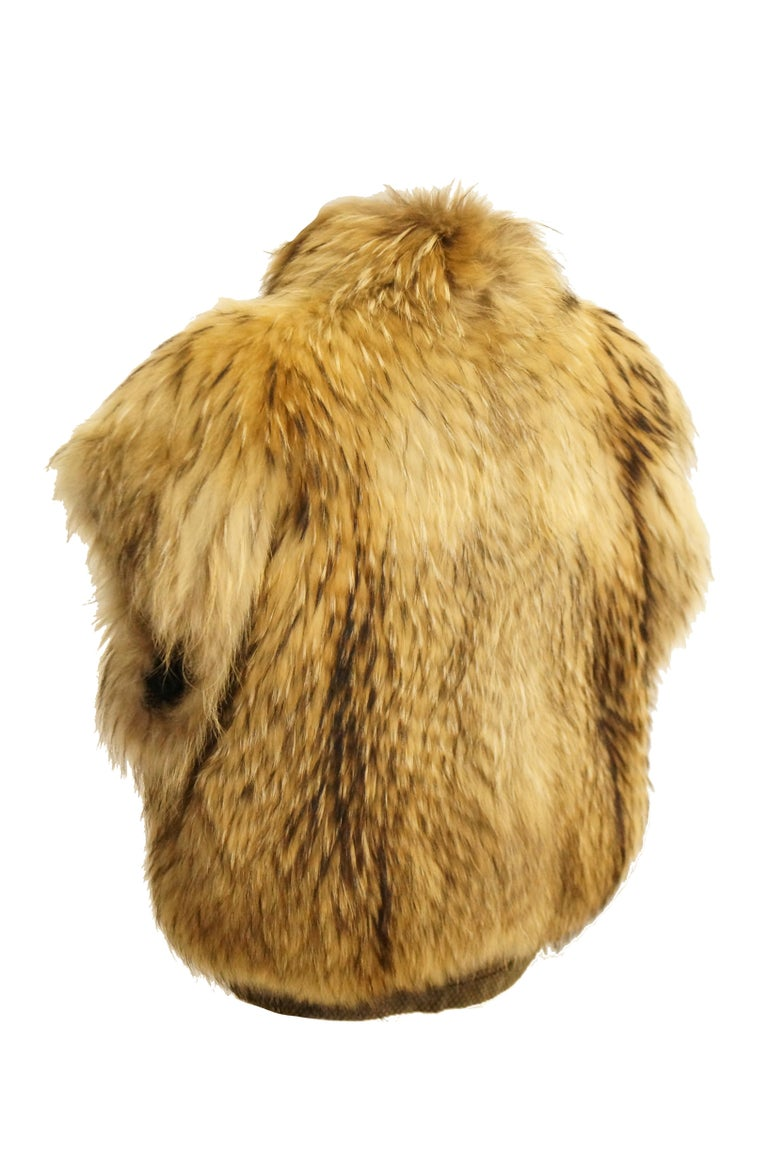 1980s Golden Brown Fur Puffer Vest For Sale 2