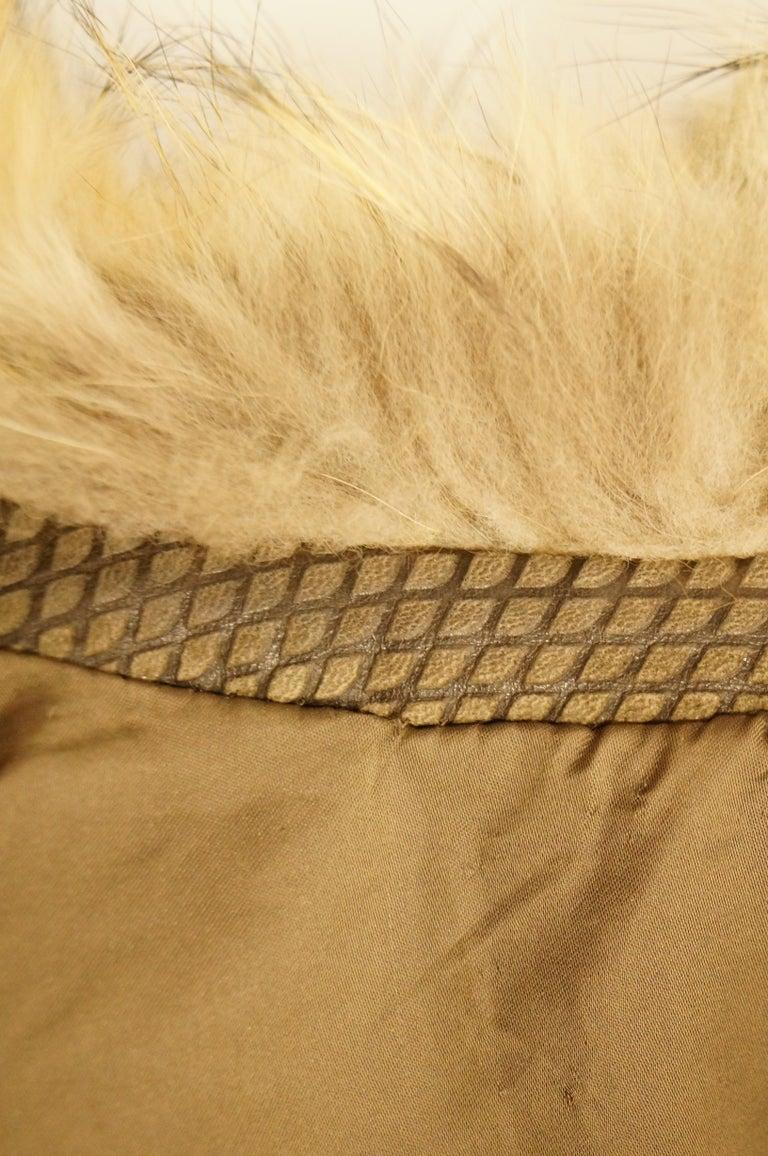 1980s Golden Brown Fur Puffer Vest For Sale 4