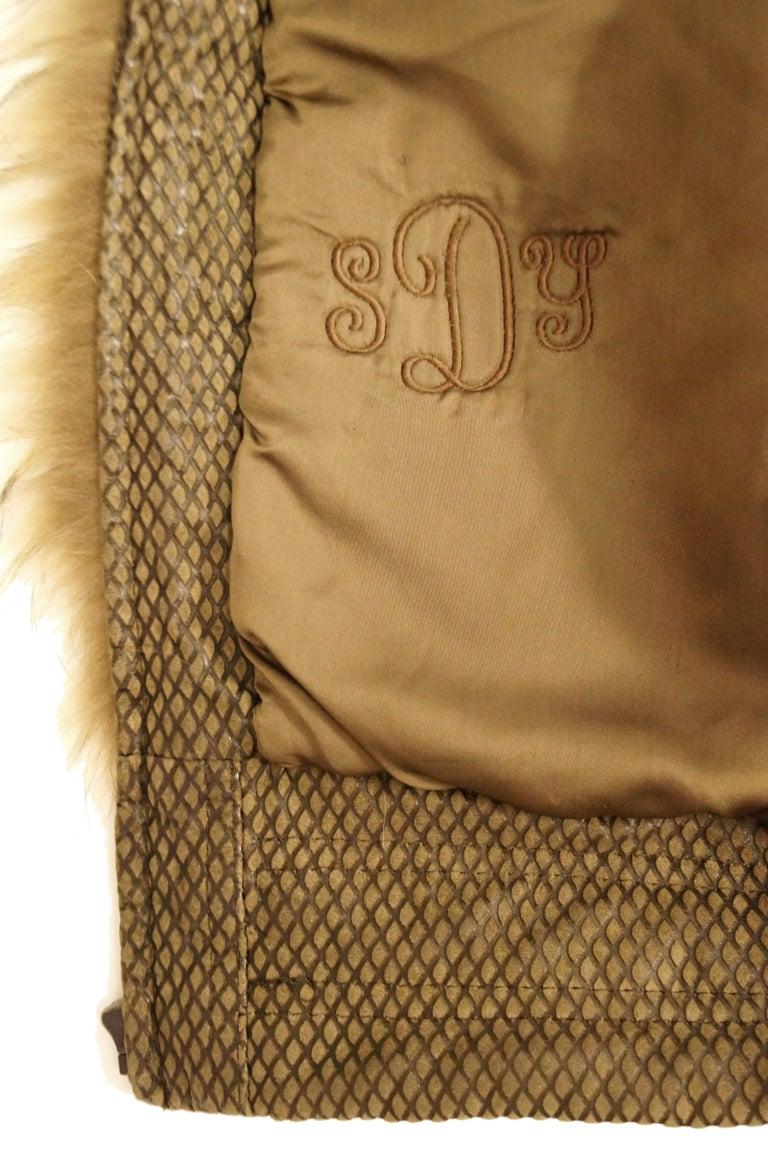 1980s Golden Brown Fur Puffer Vest For Sale 5