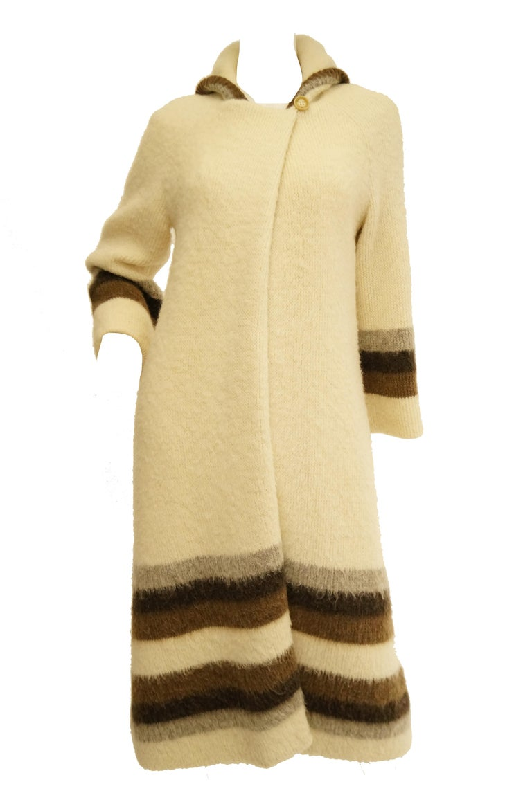 Vintage Watches For Sale >> 1960s Hilda Icelandic Wool Coat with Hood and Stripe ...