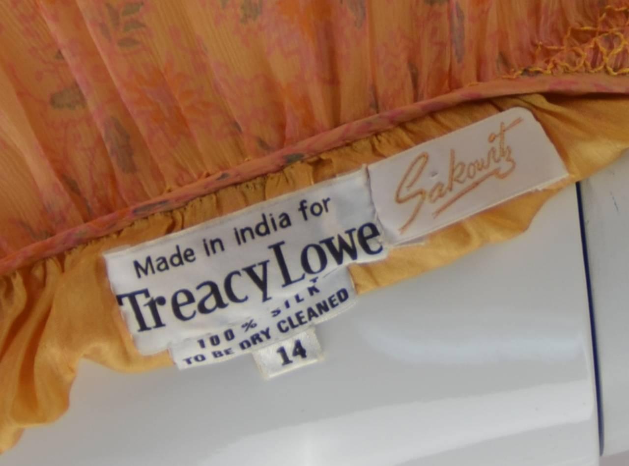 Treacy Lowe Silk Chiffon Maxi gown, 1960s  For Sale 1