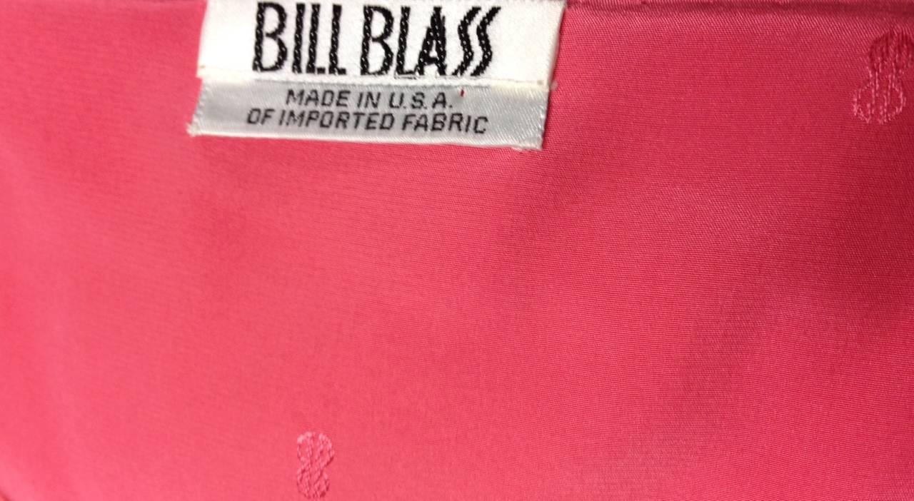 1970s Bill Blass Coral Evening Gown 6