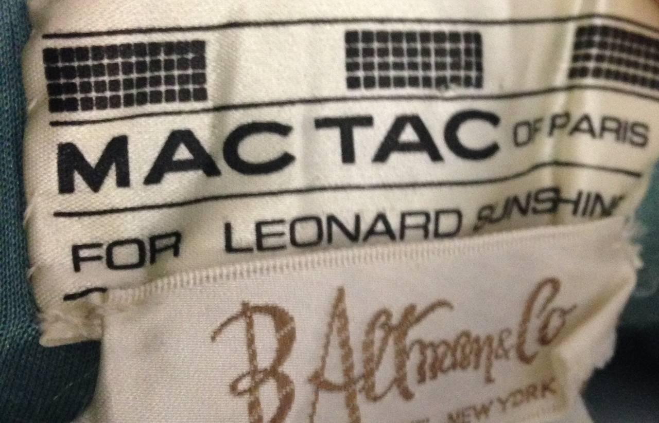 1970s Mac Tac for Leonard Sunshine Spring Print Maxi Dress 5