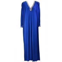 Kenza Vintage Royal Blue Kaftan