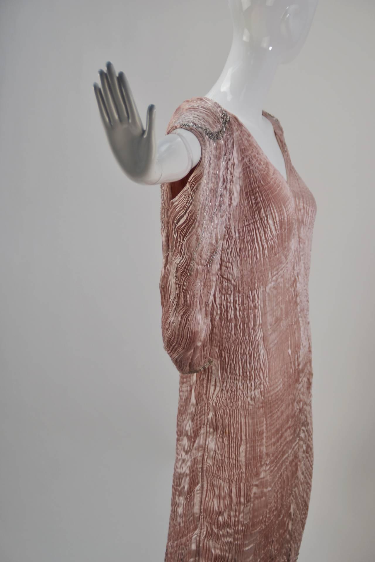 1980s Patricia Lester Pink Champagne Silk Ensemble For Sale 3
