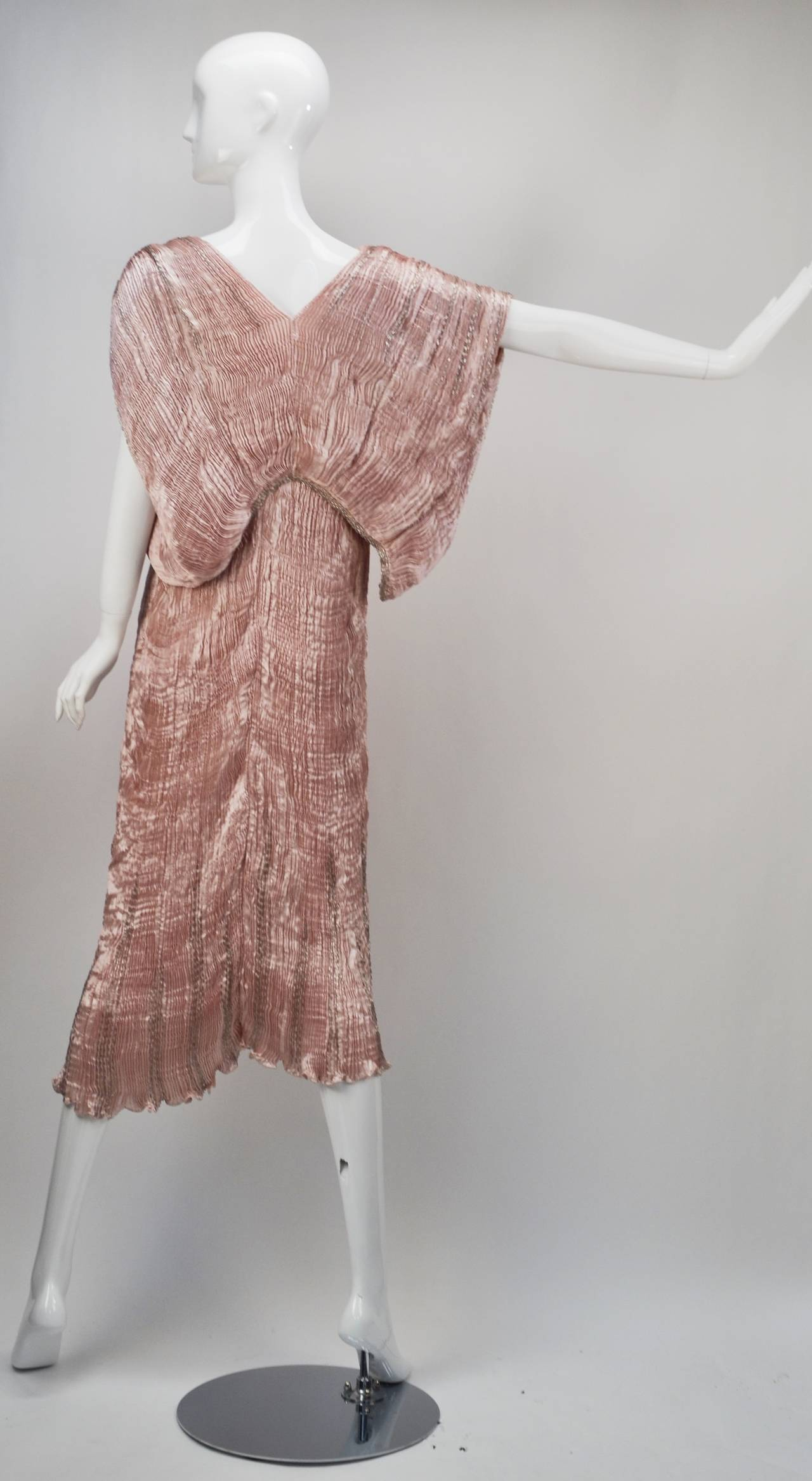 Brown 1980s Patricia Lester Pink Champagne Silk Ensemble For Sale
